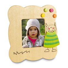 Fleurige #houten #fotolijstje voor #kinderen - te bedrukken met eigen tekst of logo.