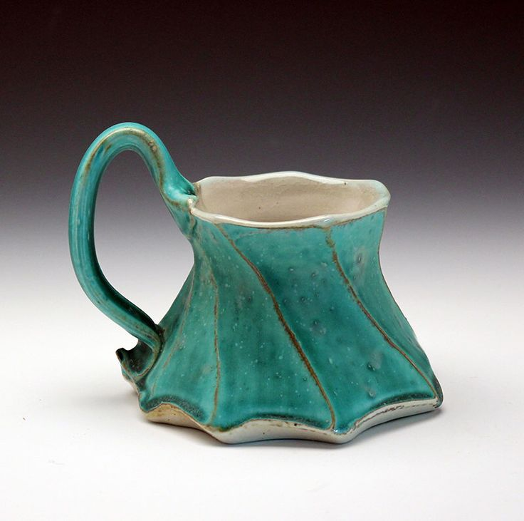 Dancing Mug, Turquoise by GertrudeGrahamSmith on Etsy https://www.etsy.com/listing/385471146/dancing-mug-turquoise