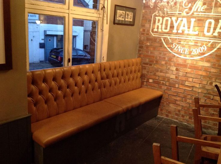 Leather Sofas Deep buttoned sofa created for a bar by South West Upholstery http