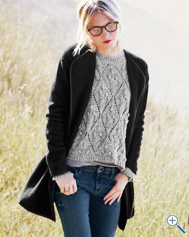 Trimmed Sweater Coat - Garnet Hill
