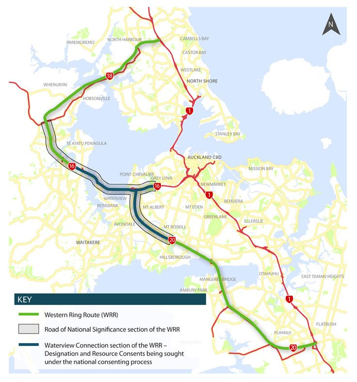 What is Auckland's Western Ring Route? Here's a map showing how the Waterview Connection provides the missing link.