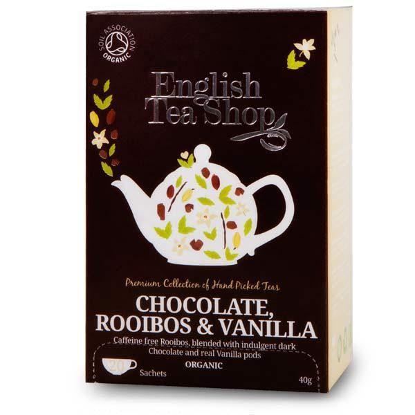 Thé rooibos chocolat et vanille bio - English Tea Shop