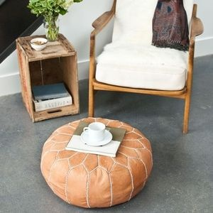 Moroccan pouf - natural