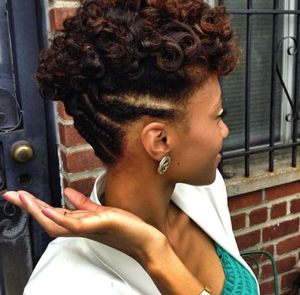 nicollette transitioning natural hair style icon updo