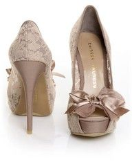 ooh i like!: Peep Toe, Chinese Laundry, Lace Heels, Wedding Shoes, Style, Shoess, Lace Shoes, High Heels, Lace Bows