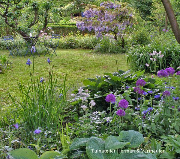 #natuurlijke tuin, #romantische tuin, #beplantingsplan Tuinatelier Herman & Vermeulen