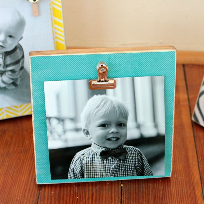 What a fun alternative to regular picture frames! Make these DIY Wood Block Photo Frames with this easy to follow tutorial from View From The Fridge!