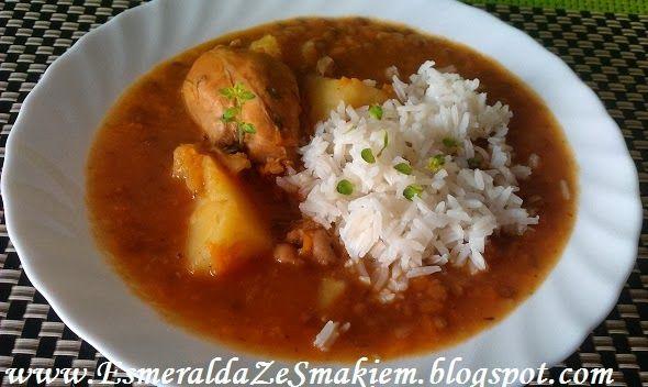 zupa z dyni, soczewicy i kurczaka