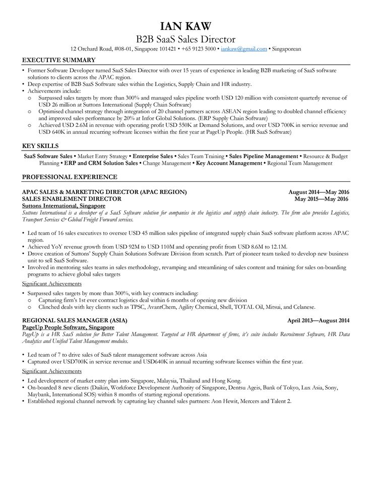 Download Free Resume Templates / Singapore Style, , Best