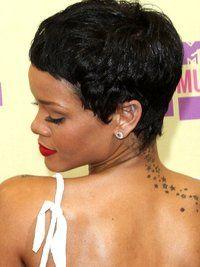 Rihanna Short Hair Side And Back