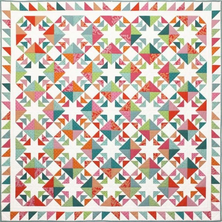 """Flying South Quilt Designed By Emma Jansen Finished Quilt Size:  183cm x 183cm (72"""" x 72"""")"""