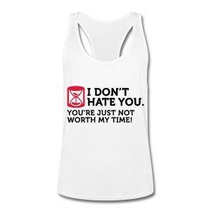 Ik haat je niet. Ik heb geen tijd. Sportkleding - Mannen tank top met racerback