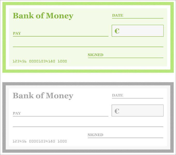 Blank Checks Pdf Business Checks Printable Checks Word Check
