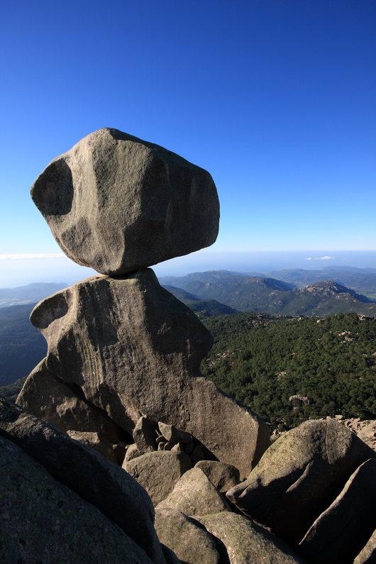 """l'Omu di Cagna, Corsica, France.   According to legend the Rocapina lion told l'omu di Cagna : """"Se tu guardi la muntagna, eu ti guardu la marina"""". (if you watch over the mountain, I would watch over the sea). """"  Ghjacumu Bonicardu """""""
