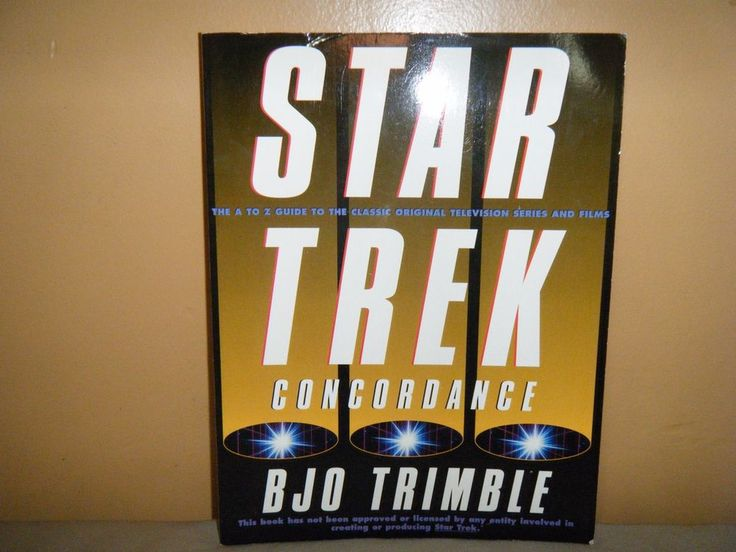 STAR TREK Concordance A to Z Guide Clasic Original TV Series & Films Book 1995