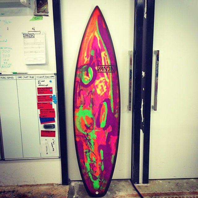 Vanda Surf Carbon railed epoxy surfboard with custom resin tint @vandasurf Instagram photos | Websta
