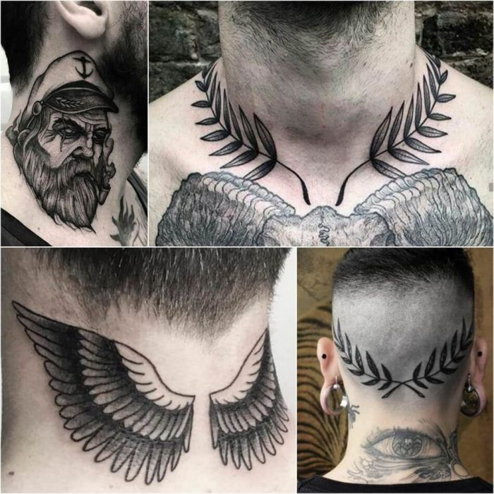 Best Neck Tattoo Ideas For Men Positivefox Com Tatuajes Cuello Tatuajes De Alas Disenos De Tatuaje De Alas