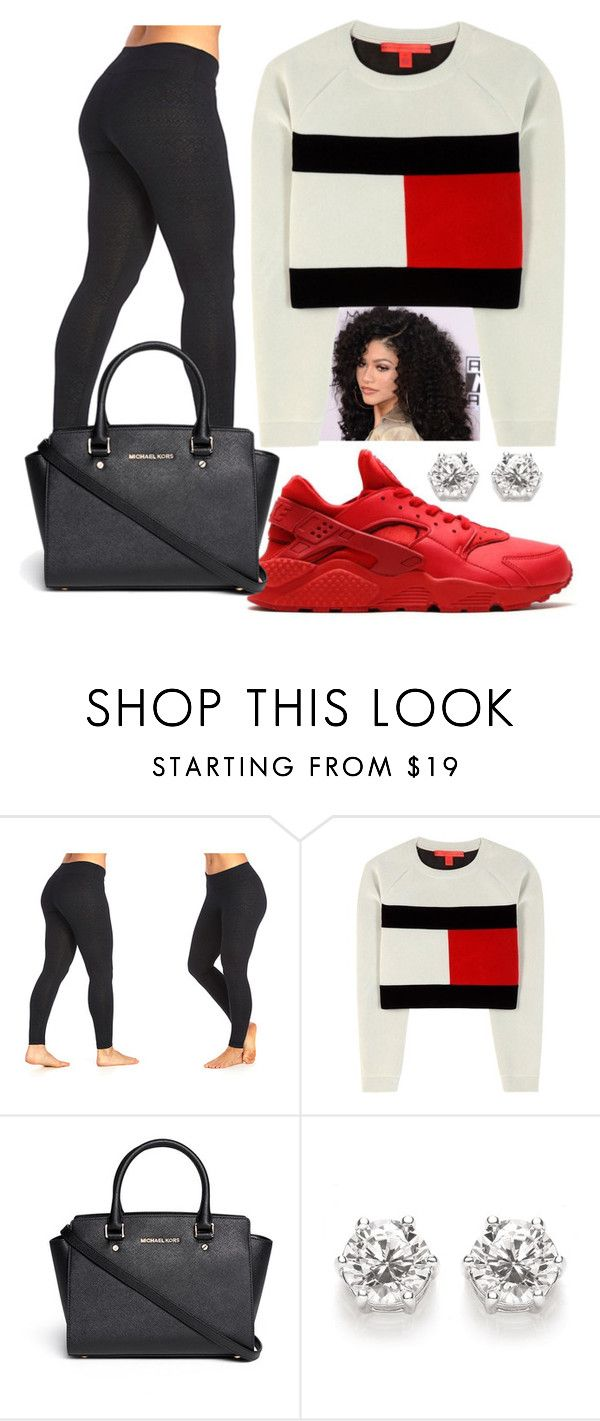"""""""simple days"""" by shakiramarie ❤ liked on Polyvore featuring The Balance Collection by Marika, NIKE, Tommy Hilfiger and Michael Kors"""