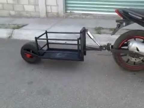 remolque para moto cap 100 kg - YouTube