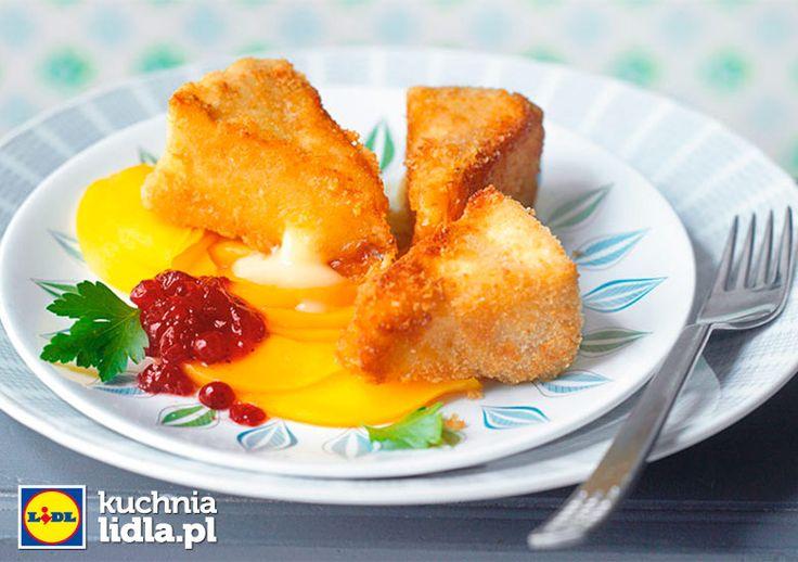 Smażony camembert z brzoskwiniowym carpaccio. Kuchnia Lidla - Lidl Polska. #kuchniafrancuska