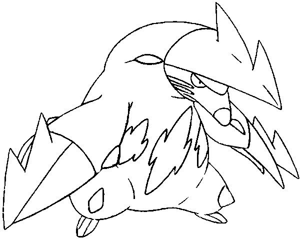 Dibujos para colorear Pokemon - Excadrill - Dibujos Pokemon ...