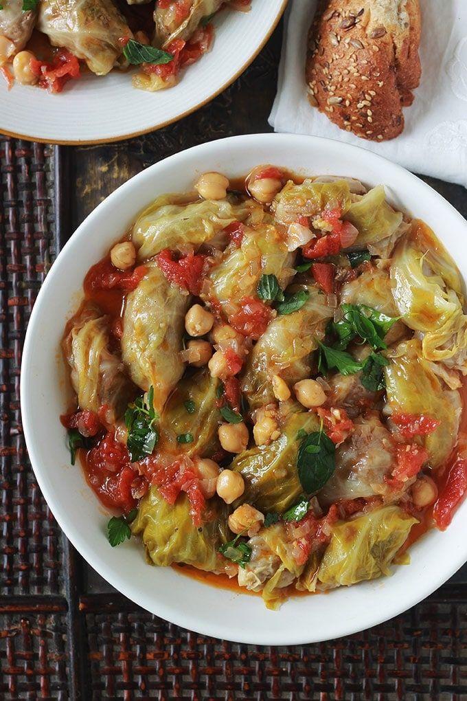 Chou Farci Recette Algerienne Dolma Krombit Recept Pinterest