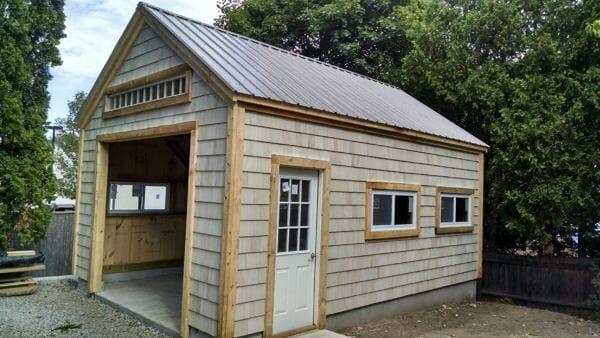 One Bay Garage Kit Single Car Garage Kit Jamaica Cottage Shop In 2020 Garage Kits Car Garage Craftsman Style Kitchens