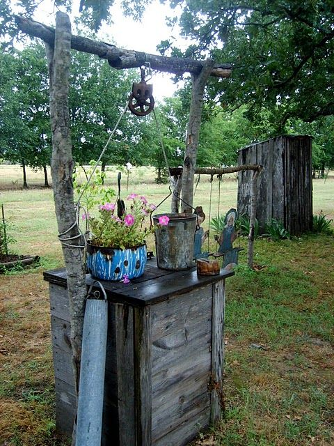 i love what she does with old junk rustic gardenscottage