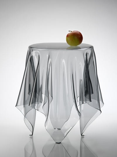 Transparent Cloth Table