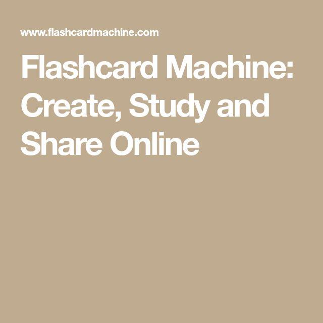 Flashcard Machine: Create, Study and Share Online