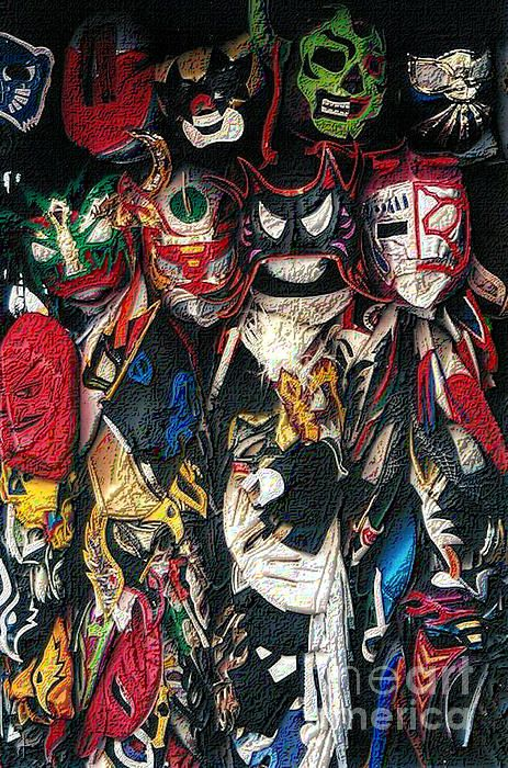 Lucha libre or Mexican wrestling masks. Original ...