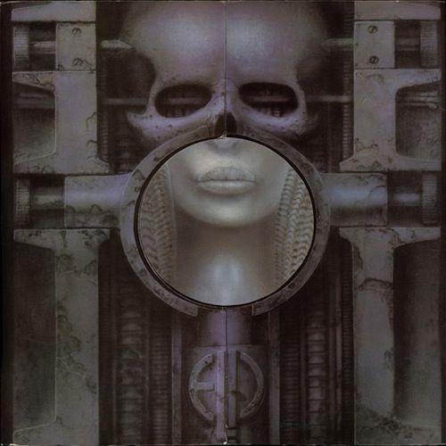 Emerson, Lake and Palmer [Brain Salad Surgery]. 1973. 邦題は[恐怖の頭脳改革]. 「H・R・ギーガーのアルバム・カヴァー ベスト 20」を英FACTが発表 - amass