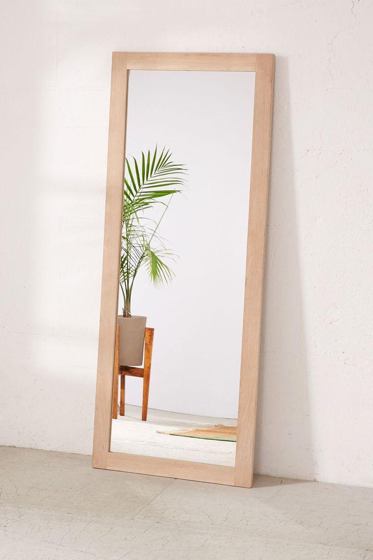 Simple Wood Mirror Living Room Mirrors Wood Mirror