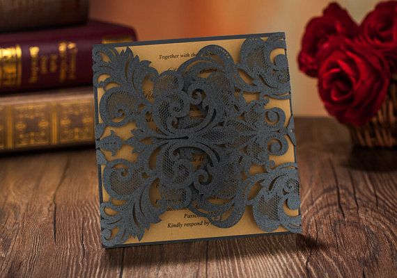 50 Cool Black and Gold Wedding Invitation Cards