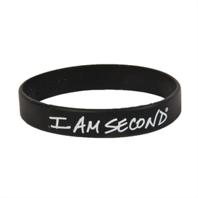 My I am Second bracelet.  Great way to start conversations about Jesus
