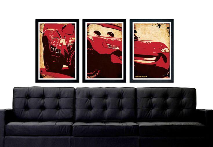 Cars Lightning McQueen Poster Set, Lightning McQueen Car Set by PrintMadness on Etsy https://www.etsy.com/listing/241105368/cars-lightning-mcqueen-poster-set