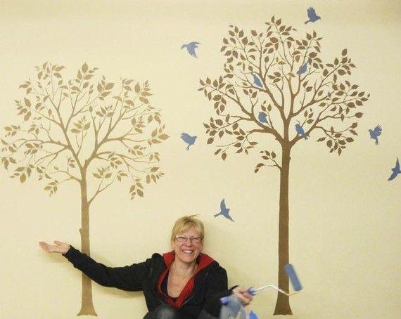 Oltre 25 fantastiche idee su decorazione da parete ad albero su pinterest murales cameretta - Stencil albero da parete ...