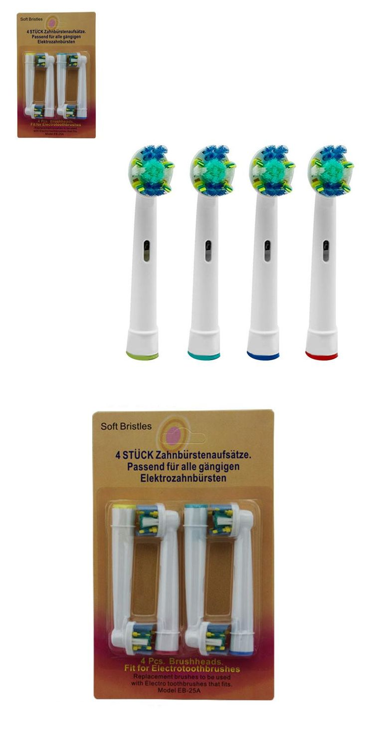 [Visit to Buy] 4Pcs EB-25A Model Electric Toothbrush Head Replacement Tooth Brush Heads Cleaning Tool for Braun Oral-B D4510/D12013/D12013W rp #Advertisement
