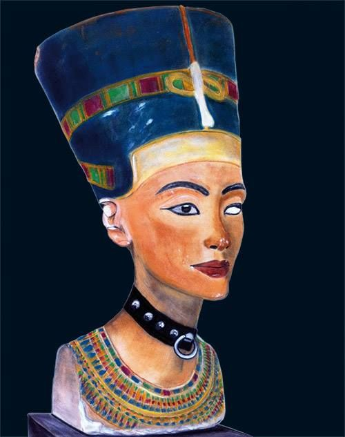 Snapple - Queen of the Night, 2013, Pastel on velour-paper, 55 x 46 cm. Based on Nofretete, 1353–1336 (B.C.), Neues Museum Berlin. Courtesy of Egbert Baqué Contemporary Art, Berlin.