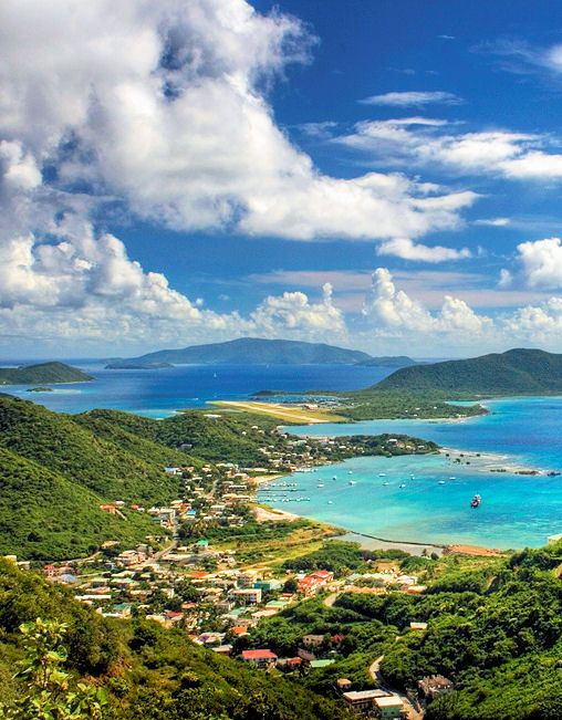 Tortola, taken from Ridge Rd around Hope, looking at the airport and out to Virgin Gorda, ah home sweet home!!