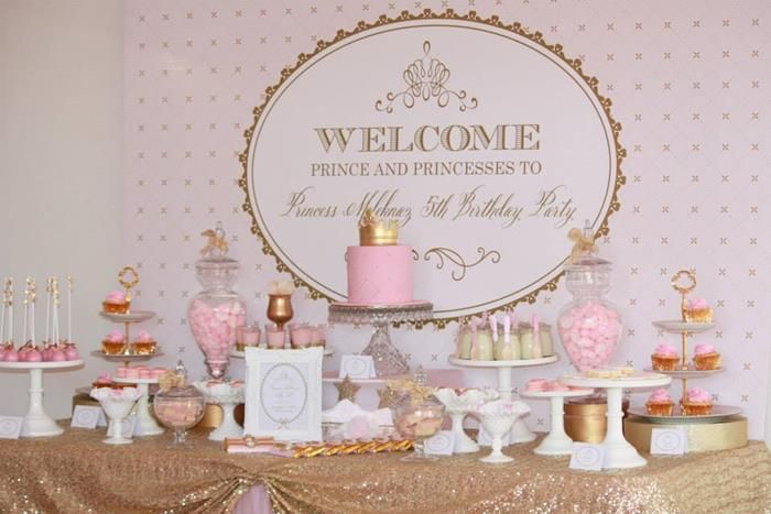 Pink and gold birthday decorations pink and gold for 5th birthday decoration ideas