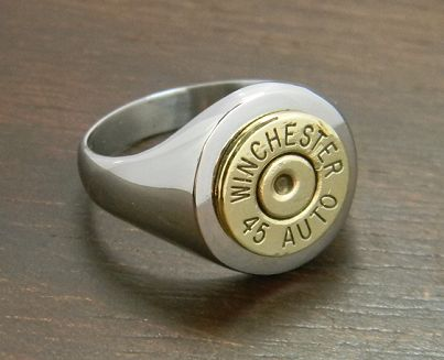 Mens Classic Stainless Steel Bullet Ring - literally just bought this for Danny!