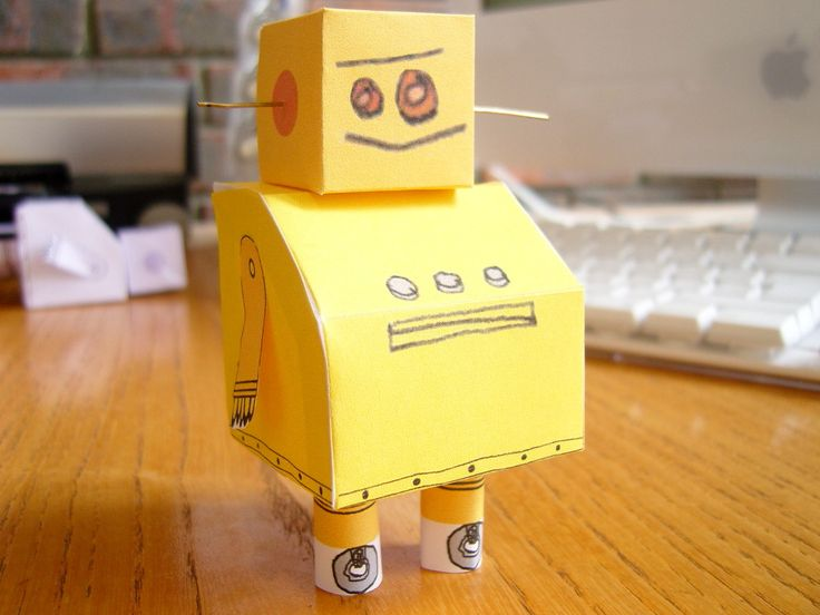 This is an instructable showing you how you can make your very own Instructables Robot modeli used photoshop elements to create the net for the model ...