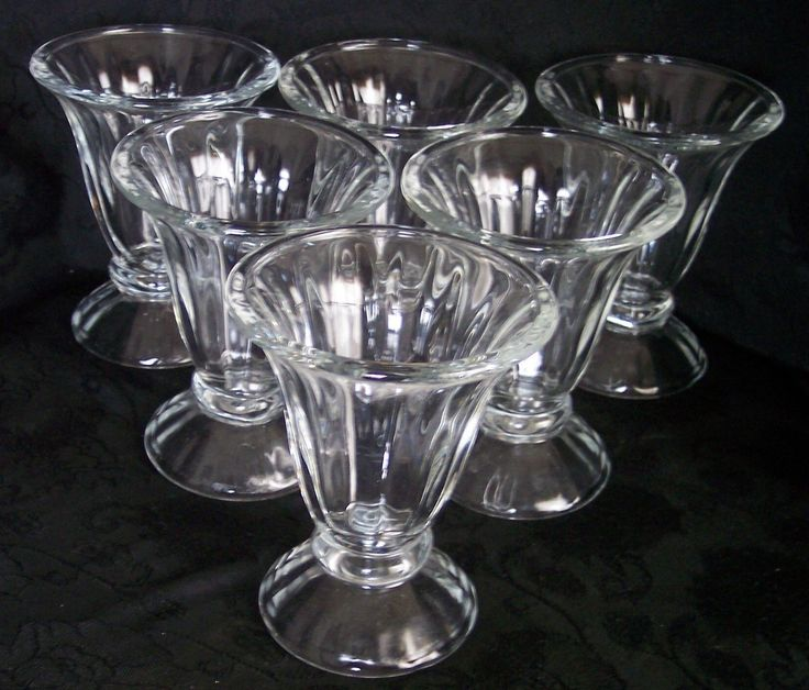Not high on the list compared to the other items above it.  Set of 6 Libbey Crystal Clear Glass Footed Parfaits, Ice Cream, Dessert Dishes
