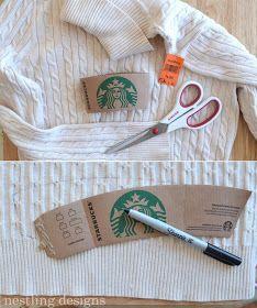 Nestling: DIY No-Knit Coffee Cozy