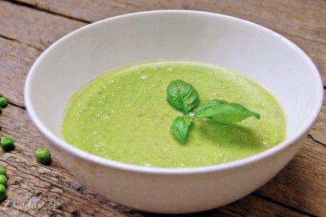 Zupa-krem z zielonego groszku