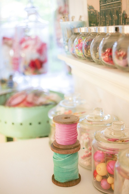 Jar love - You can never have enough jars in a craft room!