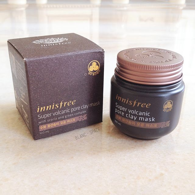 BLANC / SPACE - REVIEW: Innisfree Super Volcanic Pore Clay Mask