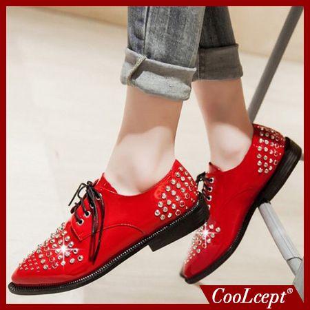 Дамы досуг случайные квартиры обувь лакированная кожа леди бездельников сексуальные весенние женские туфли бренд обувь обувь размер 33-48 P16177