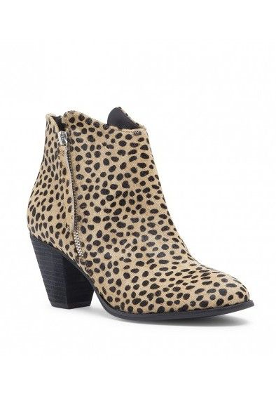 Cheetah print booties with a chic zipper by @solesociety